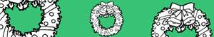 Disegni Corone e ghirlande di Natale da colorare
