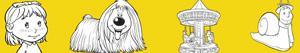 Disegni Dougal - La giostra magica da colorare