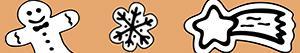 Disegni Biscotti di Natale da colorare