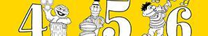 Disegni Numeri di Sesame Street da colorare