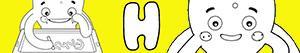 Disegni Nomi di Bambino con H da colorare