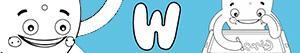 Disegni Nomi di Bambino con W da colorare