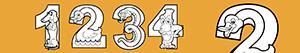 Disegni Numeri come animali da colorare
