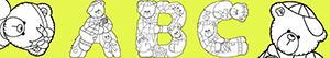 Disegni Lettere con orsi da colorare